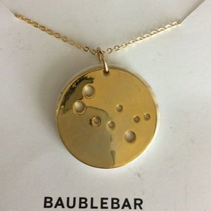 NWT Baublebar Women's Necklace Gold Zodiac Gemini